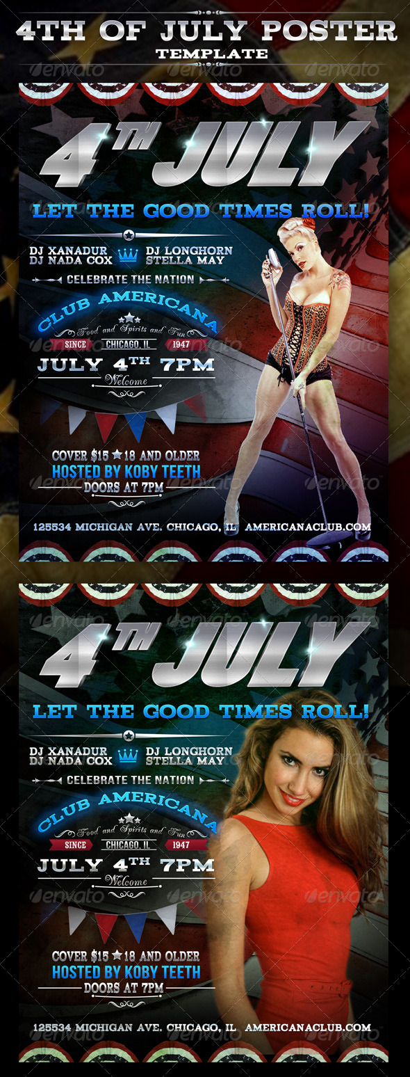 4th of July Party Poster - Events Flyers