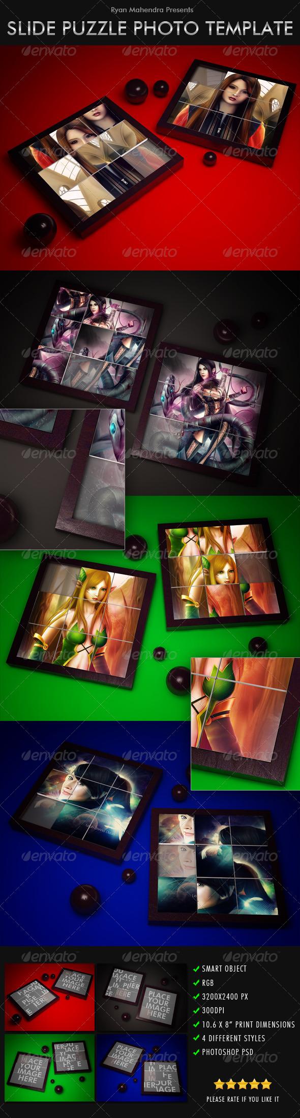 Slide Puzzle Photo Template - Photo Templates Graphics