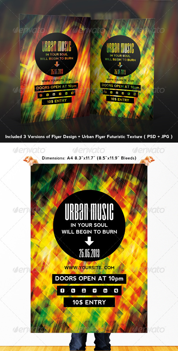 Urban Music Flyer - Clubs & Parties Events