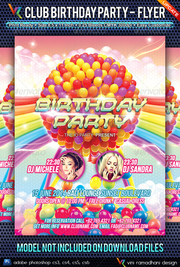 Birthday Party Anniversary Flyer - Clubs & Parties Events
