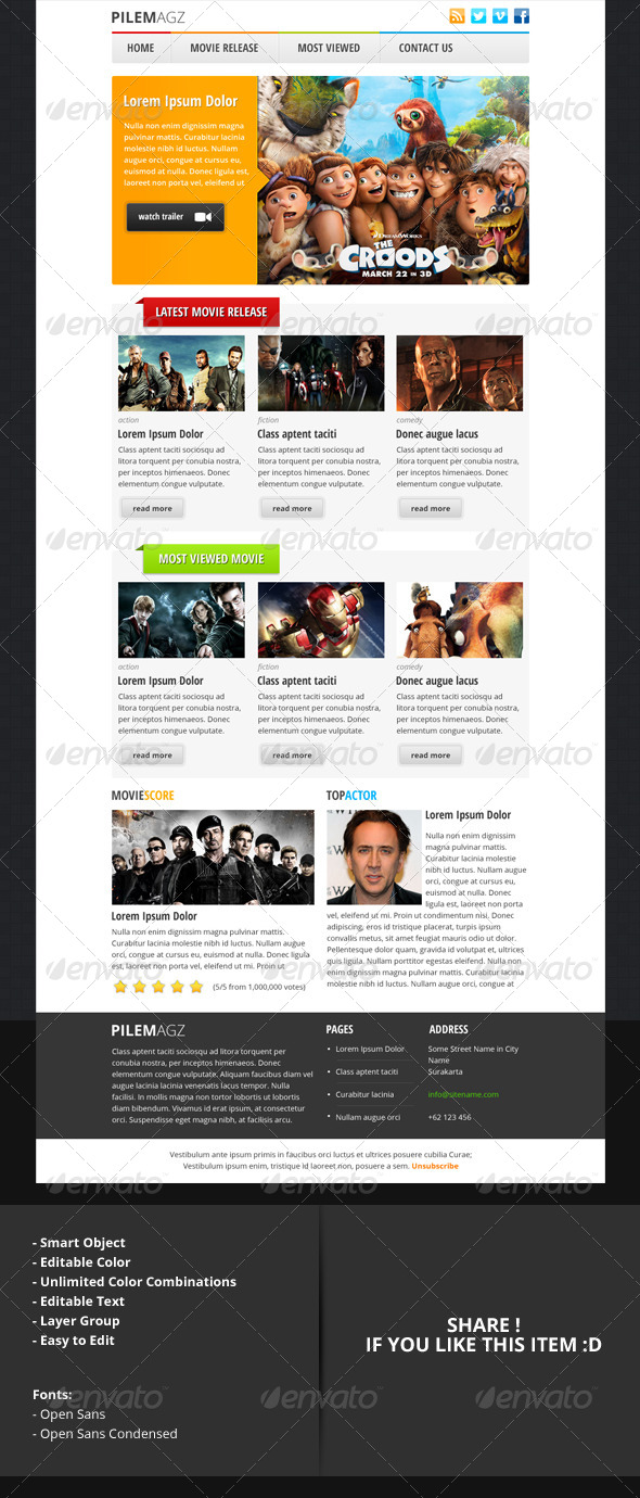 pilemagz - PSD Email Newsletter Template by indiefreelancer ...