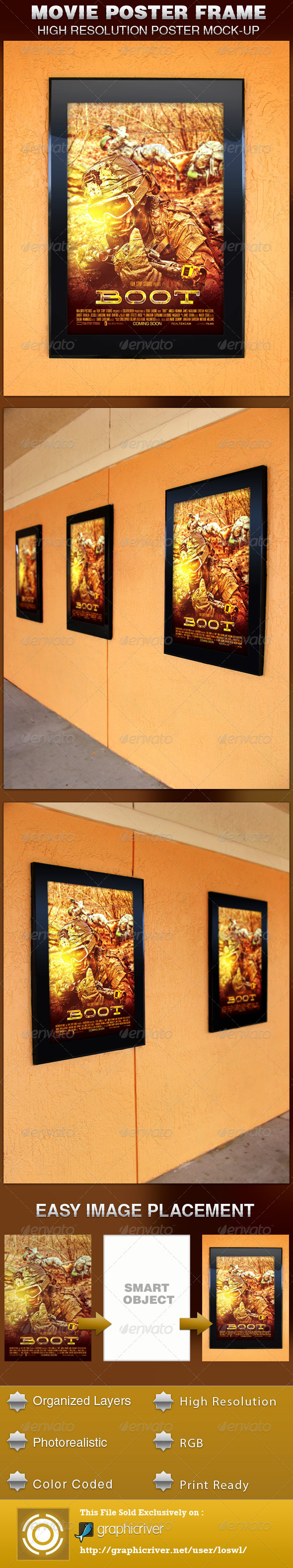 Movie Poster Frame Mockup Template - Posters Print