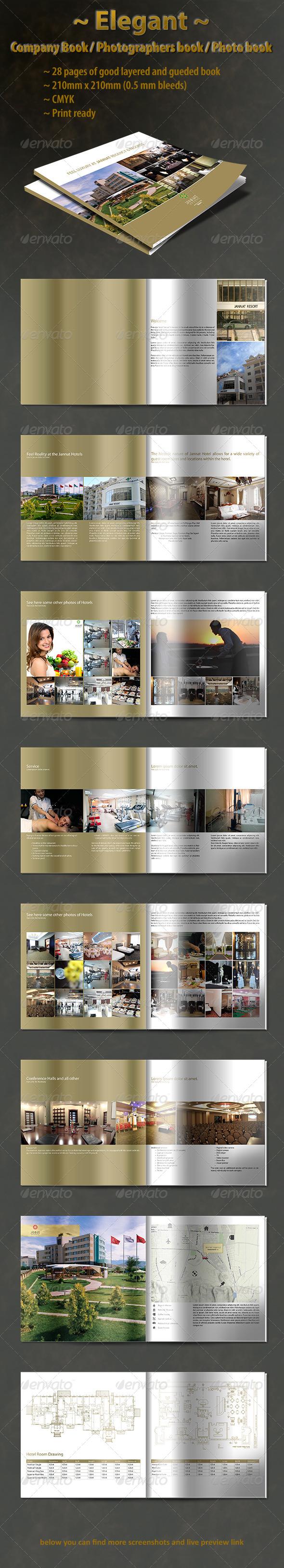 Elegant Company Book Template - Magazines Print Templates