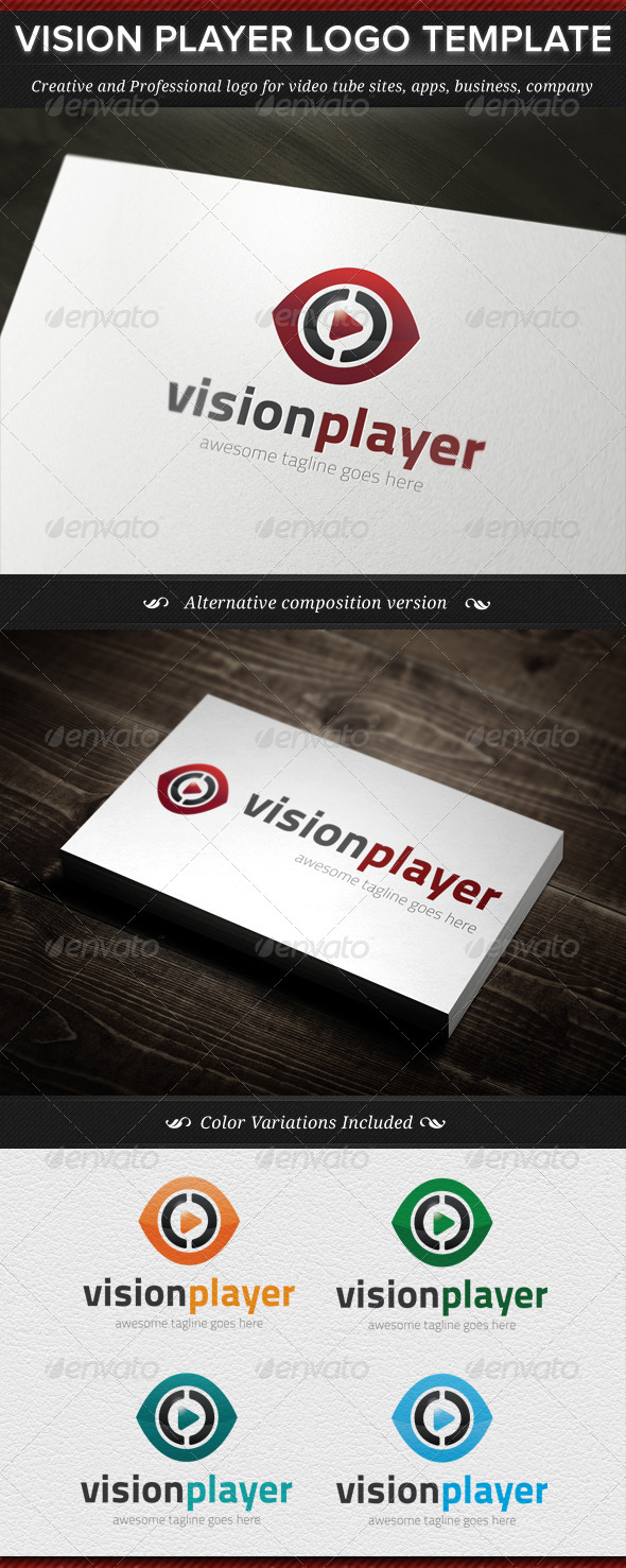 Vision Player Logo Template - Objects Logo Templates
