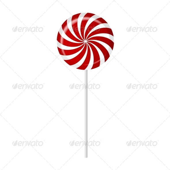 Striped Candy Vector Illustration - Food Objects