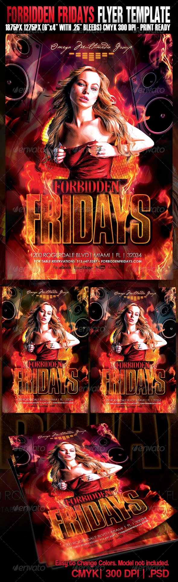Forbidden Fridays - Events Flyers