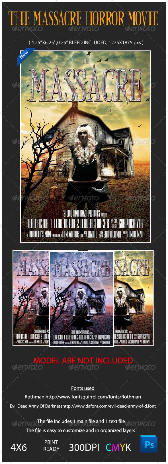 The Massacre Horror Movie Flyer Template - Miscellaneous Events