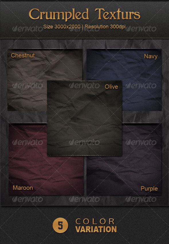 Crumpled Textures - Backgrounds Graphics