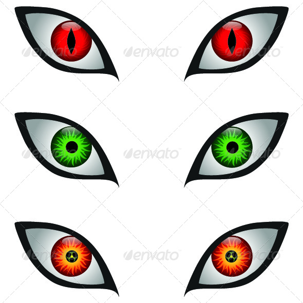 Scary Eyes - Monsters Characters