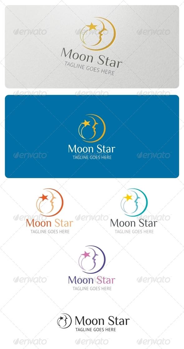 Moon Star Logo Template - Symbols Logo Templates
