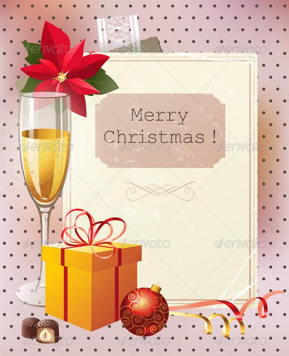 Vintage Christmas Background - Christmas Seasons/Holidays