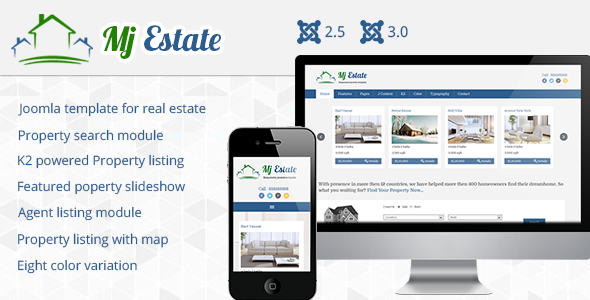 Mj Estate - Joomla CMS Themes