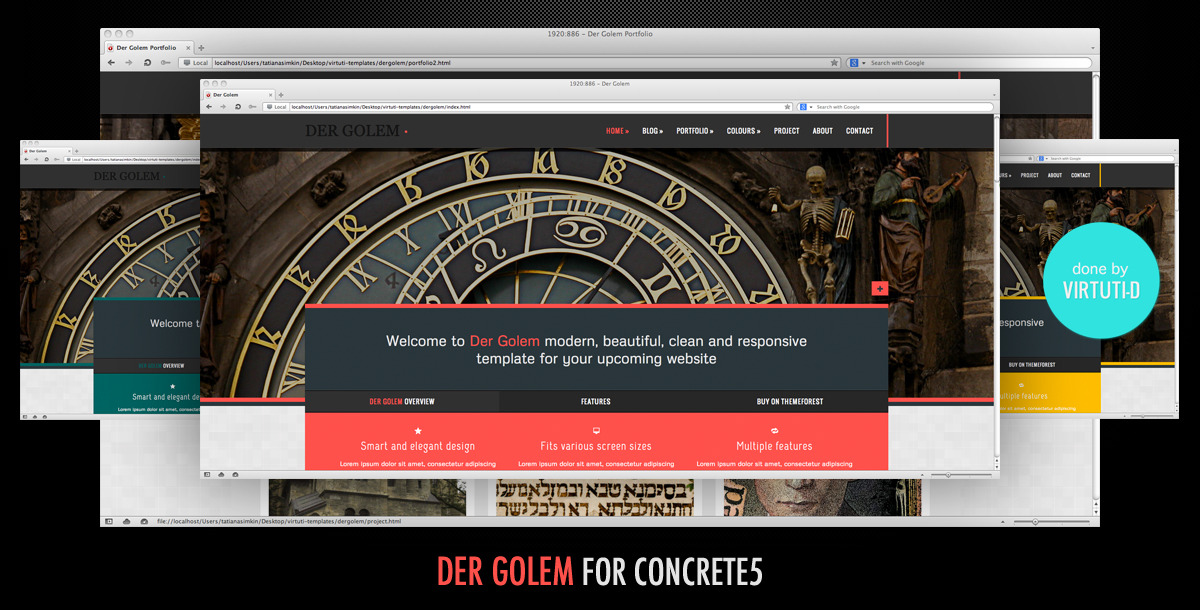 Der Golem–Multipurpose Theme For Concrete5