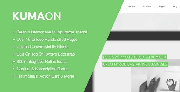 KUMAON, Clean Responsive Multipurpose Theme - Business Corporate