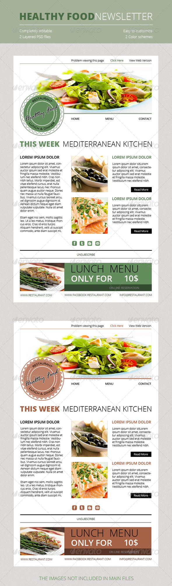 Healthy Food Newsletter - E-newsletters Web Elements