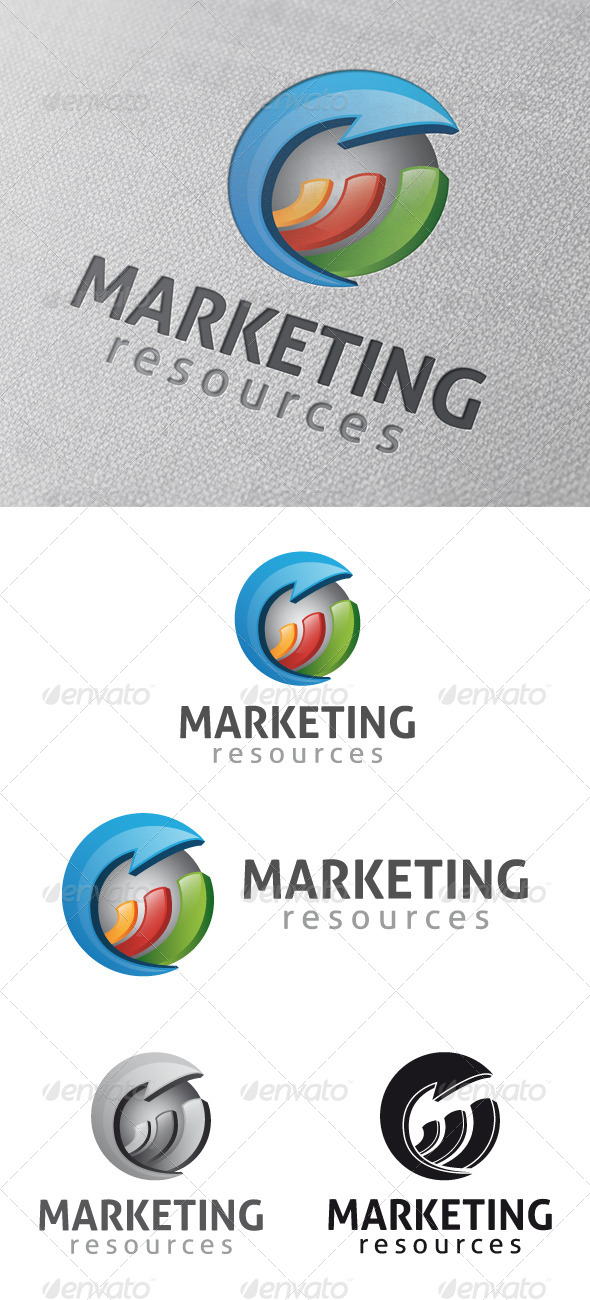 Marketing Stats Logo Template - Vector Abstract