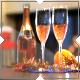 Champagne and a Fireplace During New Year - VideoHive Item for Sale