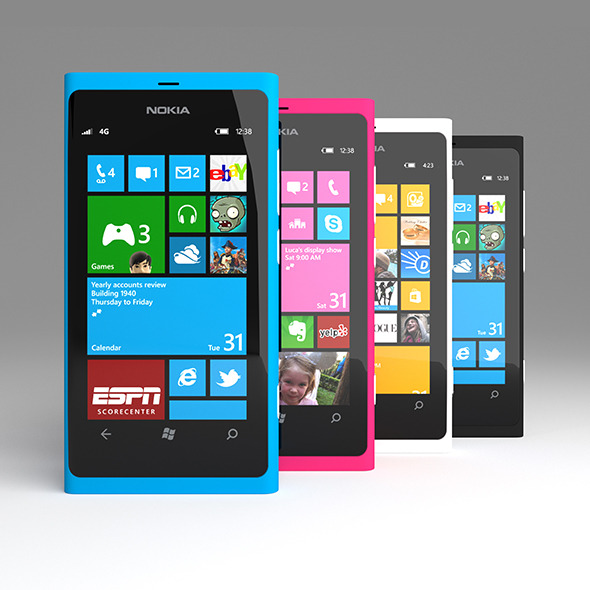 Nokia Lumia 800 - 3DOcean Item for Sale