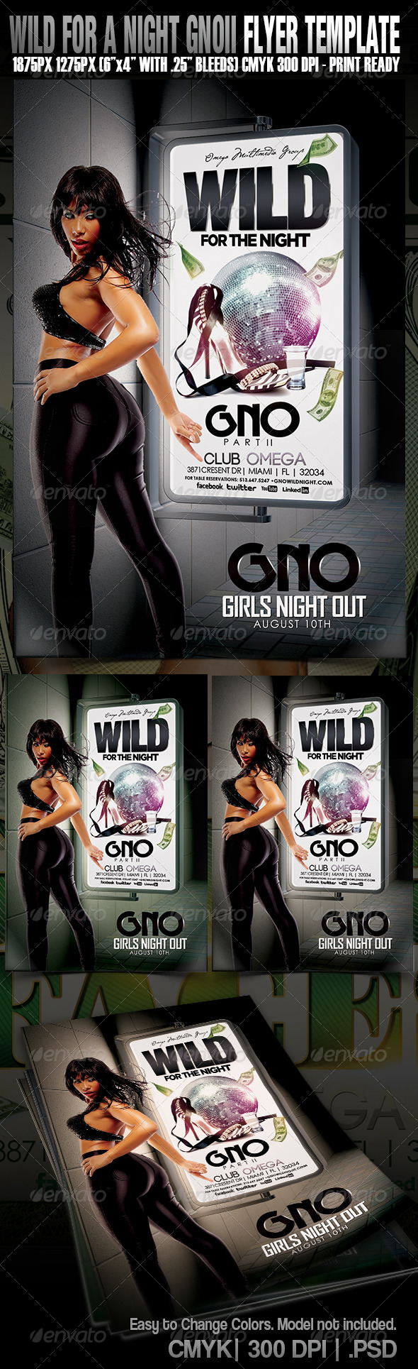 Wild For The Night GNO PII - Events Flyers