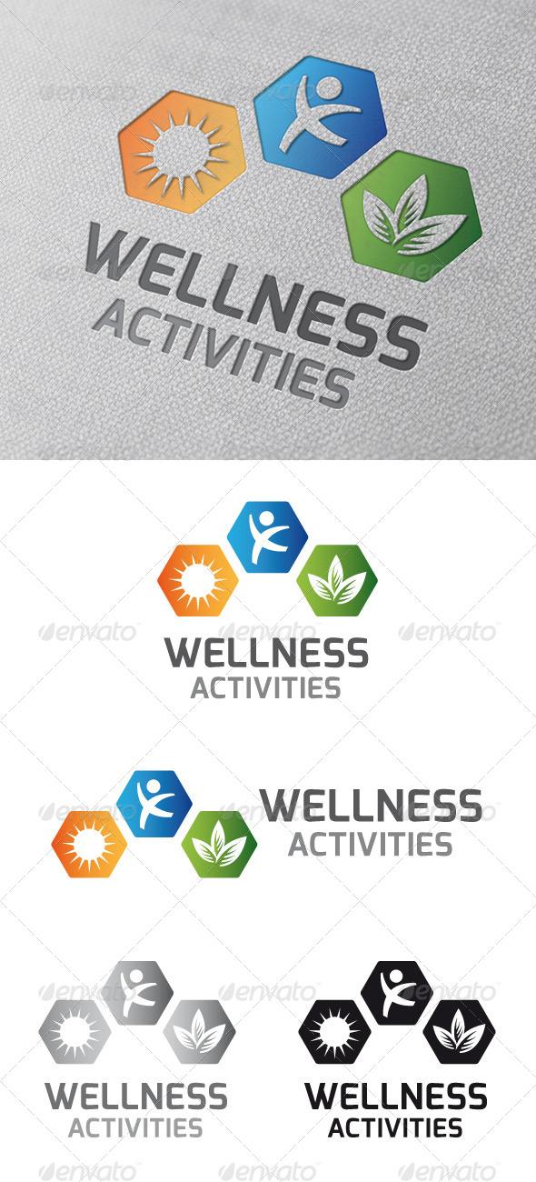 Wellness Activities Logo Template - Symbols Logo Templates