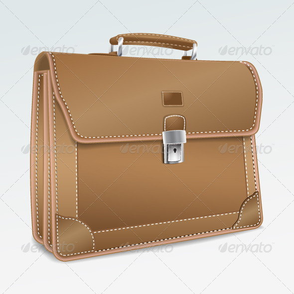 Leather Brief Case - Backgrounds Business