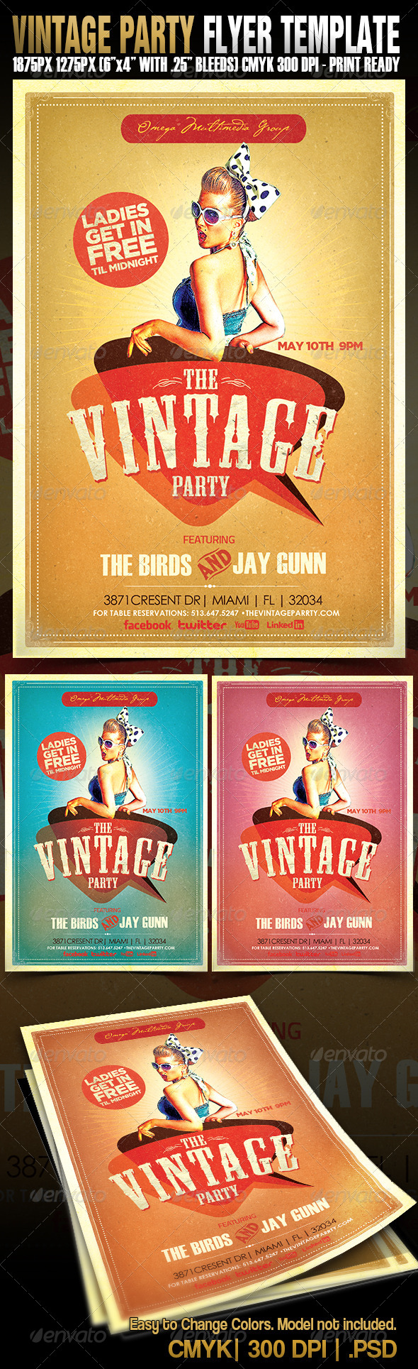 The Vintage Party - Events Flyers