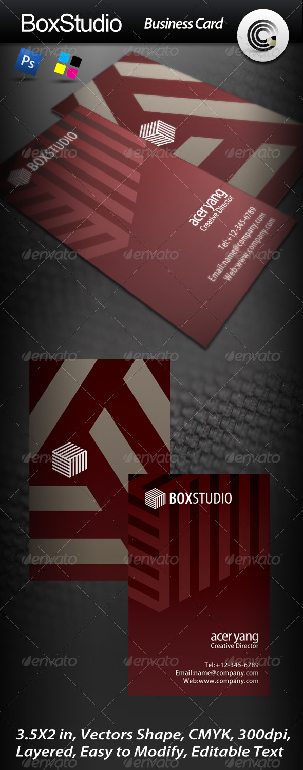 Box Studio Business Card - Corporate Business Cards