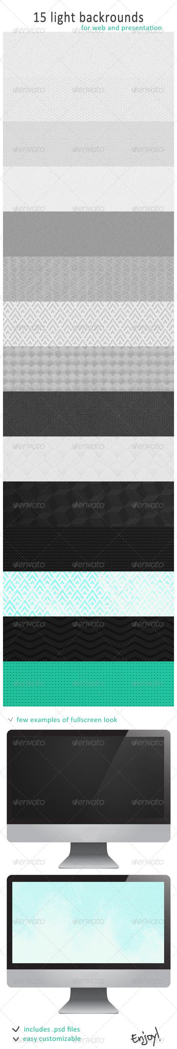 15 Light Backgrounds - Patterns Backgrounds