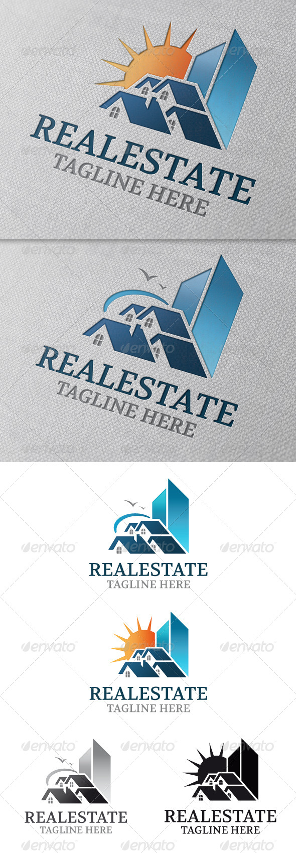 Real Estate Modern Logo Template - Buildings Logo Templates