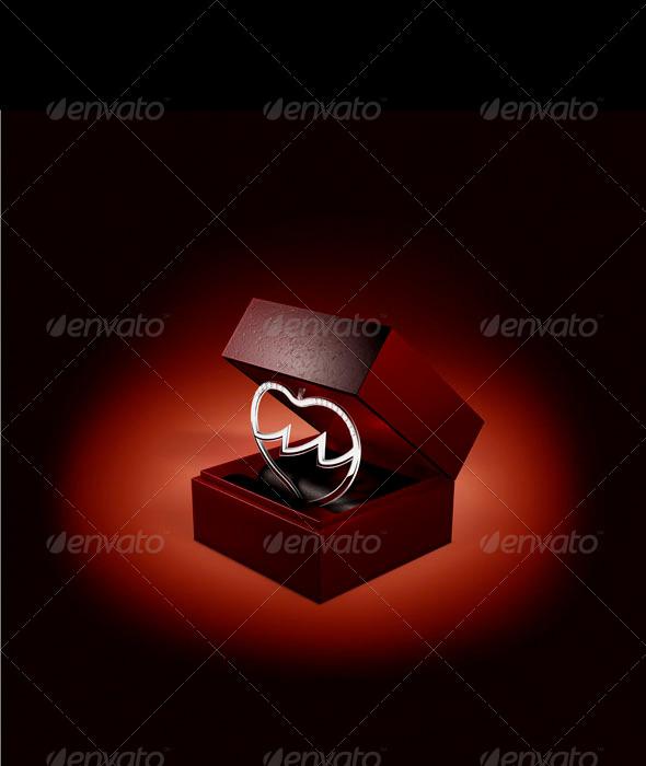 Broken Heart Jewel Box - Objects Illustrations