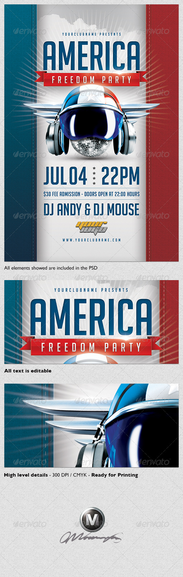 America Freedom Flyer Template - Events Flyers