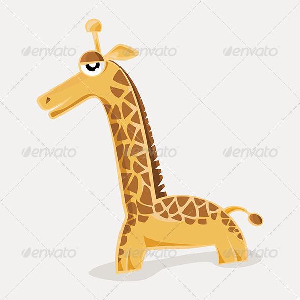 Comic Cute Giraffe - Animals Characters