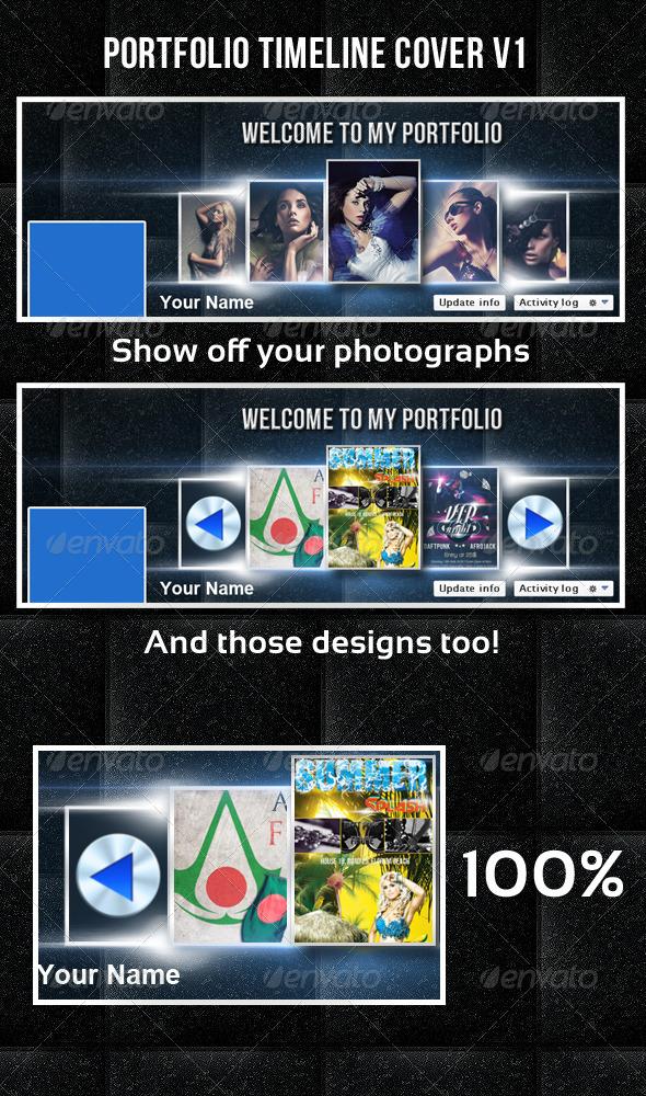 Portfolio Timeline Cover V1 - Facebook Timeline Covers Social Media