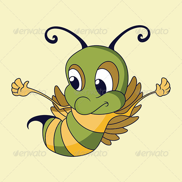 Flying Honey Bee - Animals Characters
