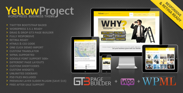 YellowProject Multipurpose Retina WP Theme