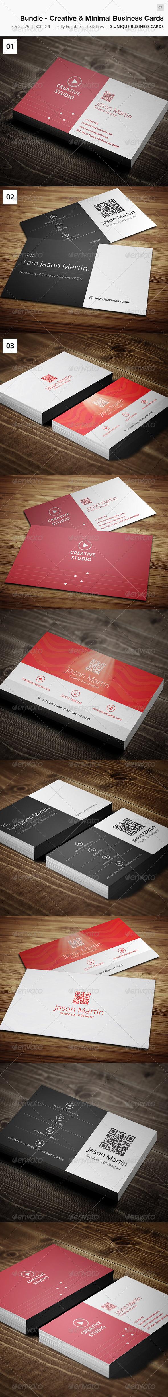 Bundle - Creative & Minimal Business Card - 07 - Creative Business Cards