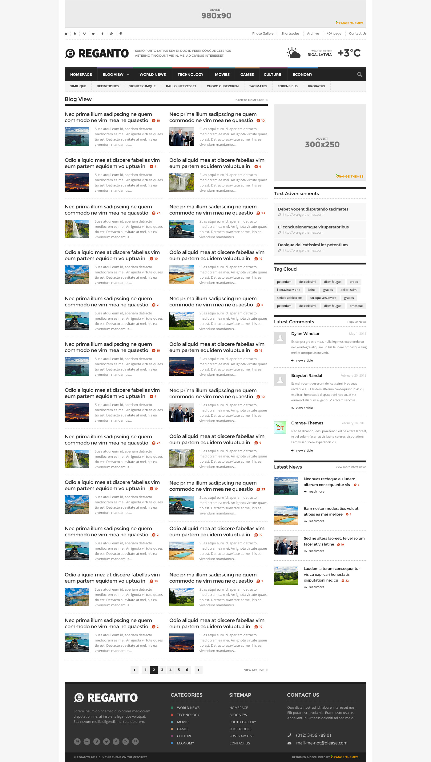 reganto massive magazine template by orange themes themeforest