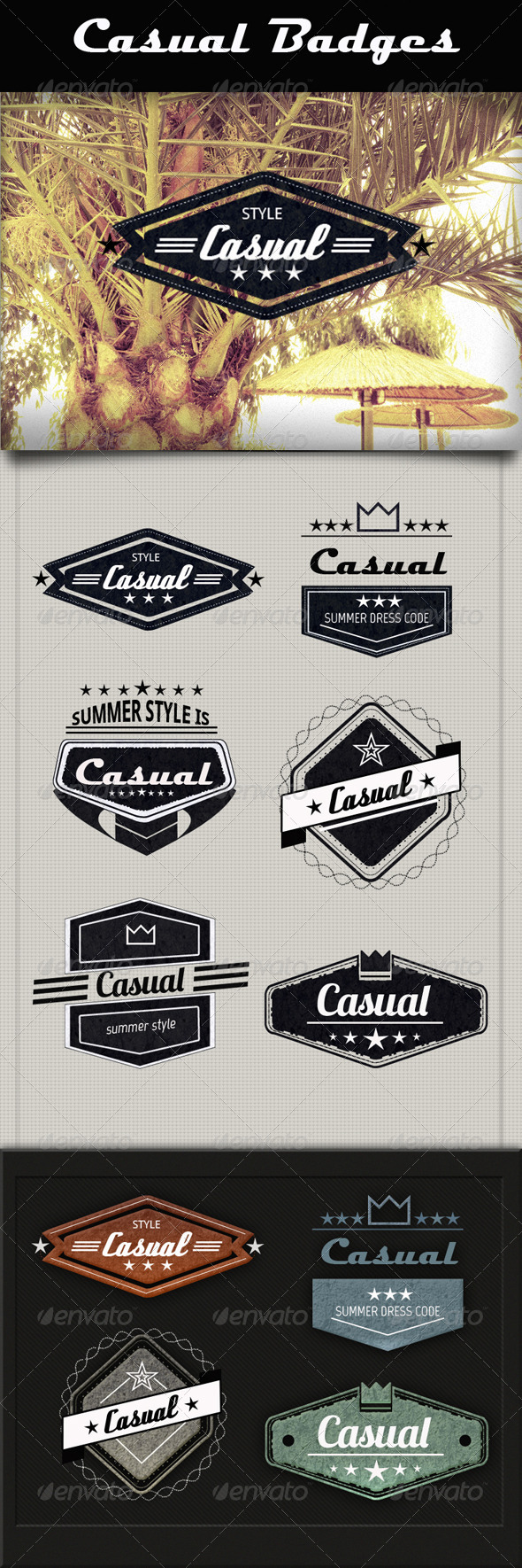 Casual Badges - Badges & Stickers Web Elements