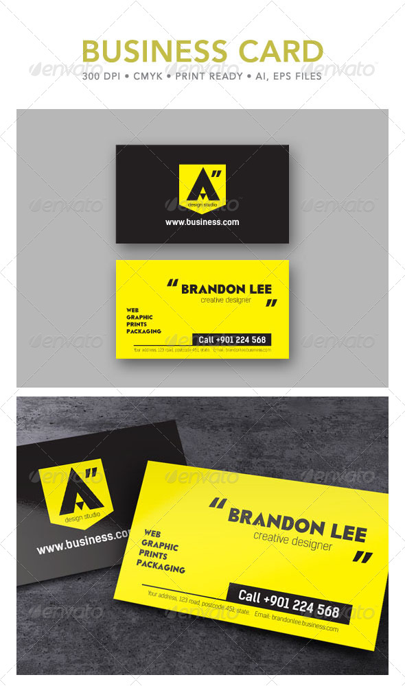 Design Studio Business Card - Creative Business Cards