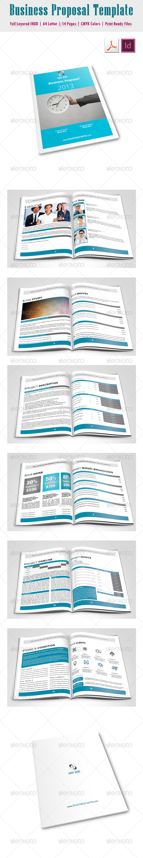 Business Proposal Template - Proposals & Invoices Stationery