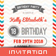 Birthday Invitation - Spirited Color - GraphicRiver Item for Sale
