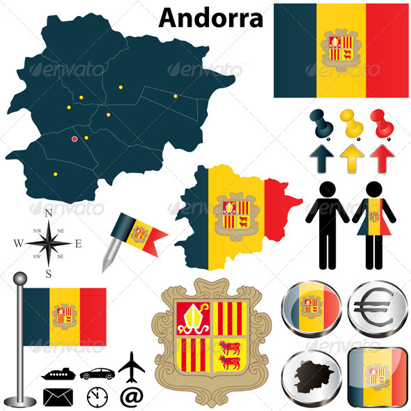 Map of Andorra - Travel Conceptual
