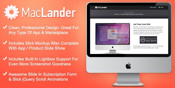 Free Download MacLander - Mac App Store Landing Page Nulled Latest Version