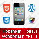 Moderner Mobile | Mobile WordPress Theme Nulled