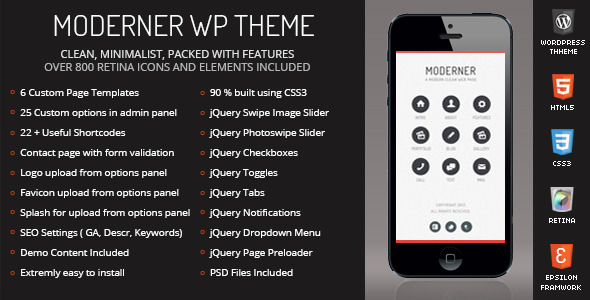 Moderner Mobile | Mobile WordPress Theme - Mobile WordPress