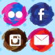 Paint Strokes Social Media Icons - GraphicRiver Item for Sale