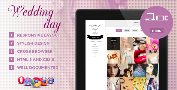 Wedding Day – Responsive HTML Theme
