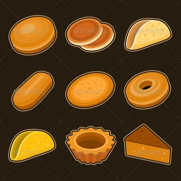 Baking Icon Set - Food Objects