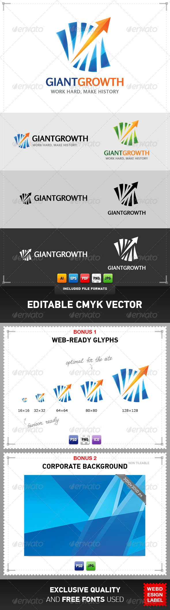 Giant Growth Logo - Symbols Logo Templates
