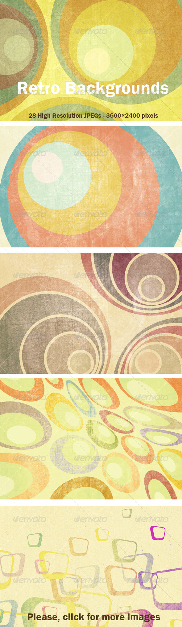 22 Retro Backgrounds - Patterns Backgrounds